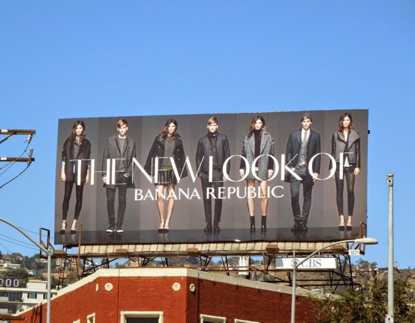 New Look of Banana Republic Fall 2014 billboard