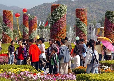 Flowers fair promotes tourism pictures