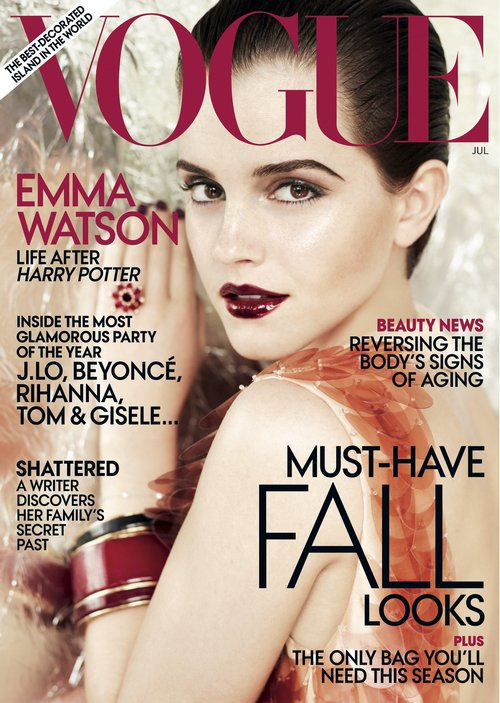 emma watson vogue cover shoot. Emma Watson covers Vogue July
