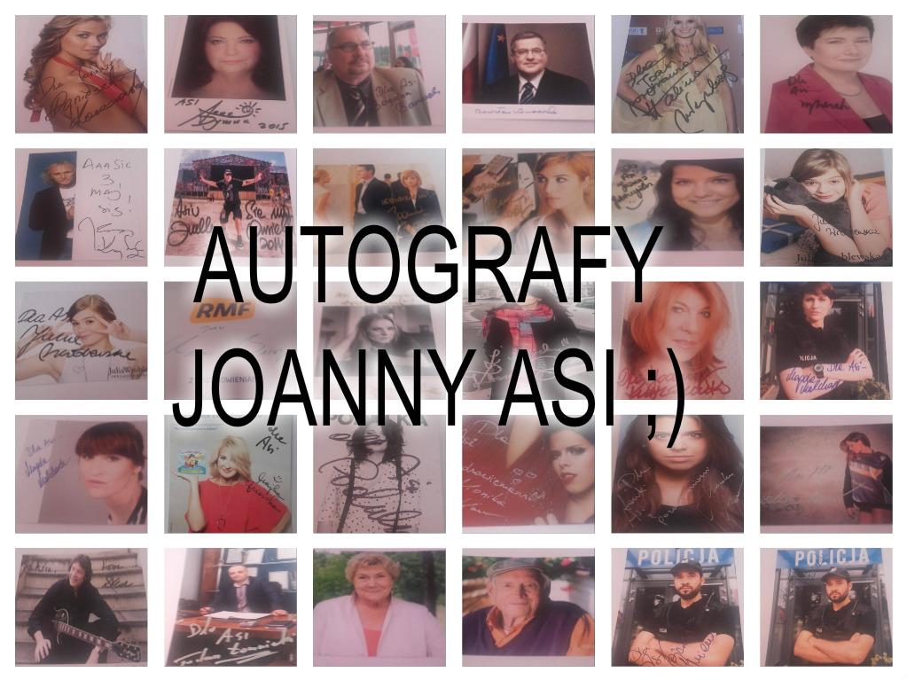 Autografy Joanny  Asi;)
