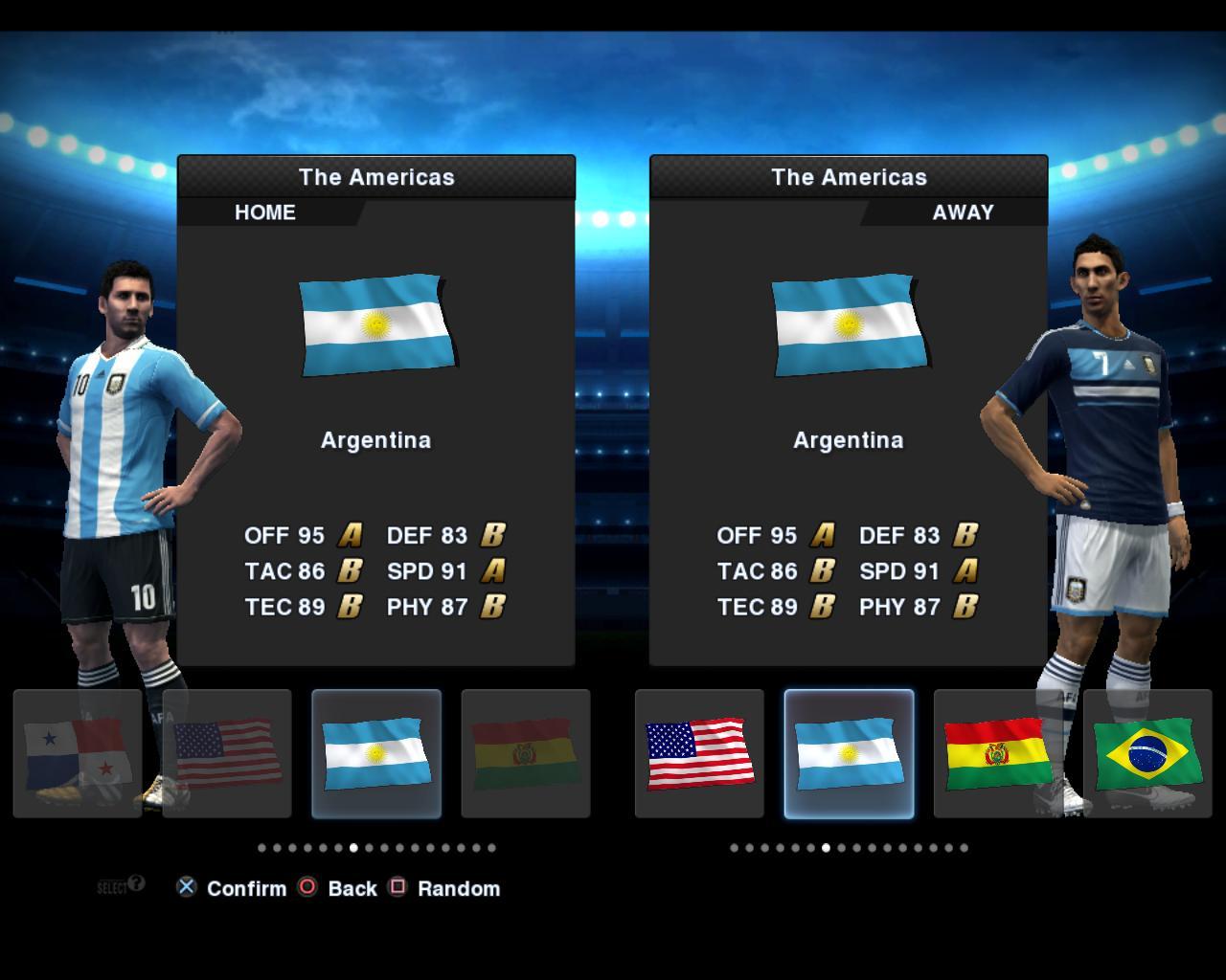... da seleção argentina para a temporada 2012 2013 para pes 2013