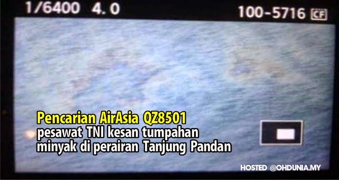 Pesawat TNI kesan tumpahan minyak di perairan Tanjung Pandan