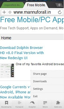 Download Dolphin Browser HD 8.0 Final Apk
