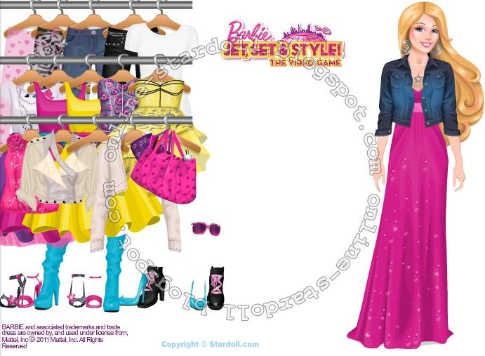 ubieranka Barbie Jet, Set & Style