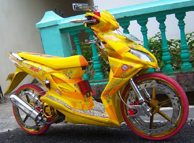 modifikasi honda beat warna kuning