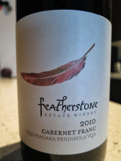 Wine Review of 2010 Featherstone Cabernet Franc from VQA Niagara Peninsula, Ontario, Canada
