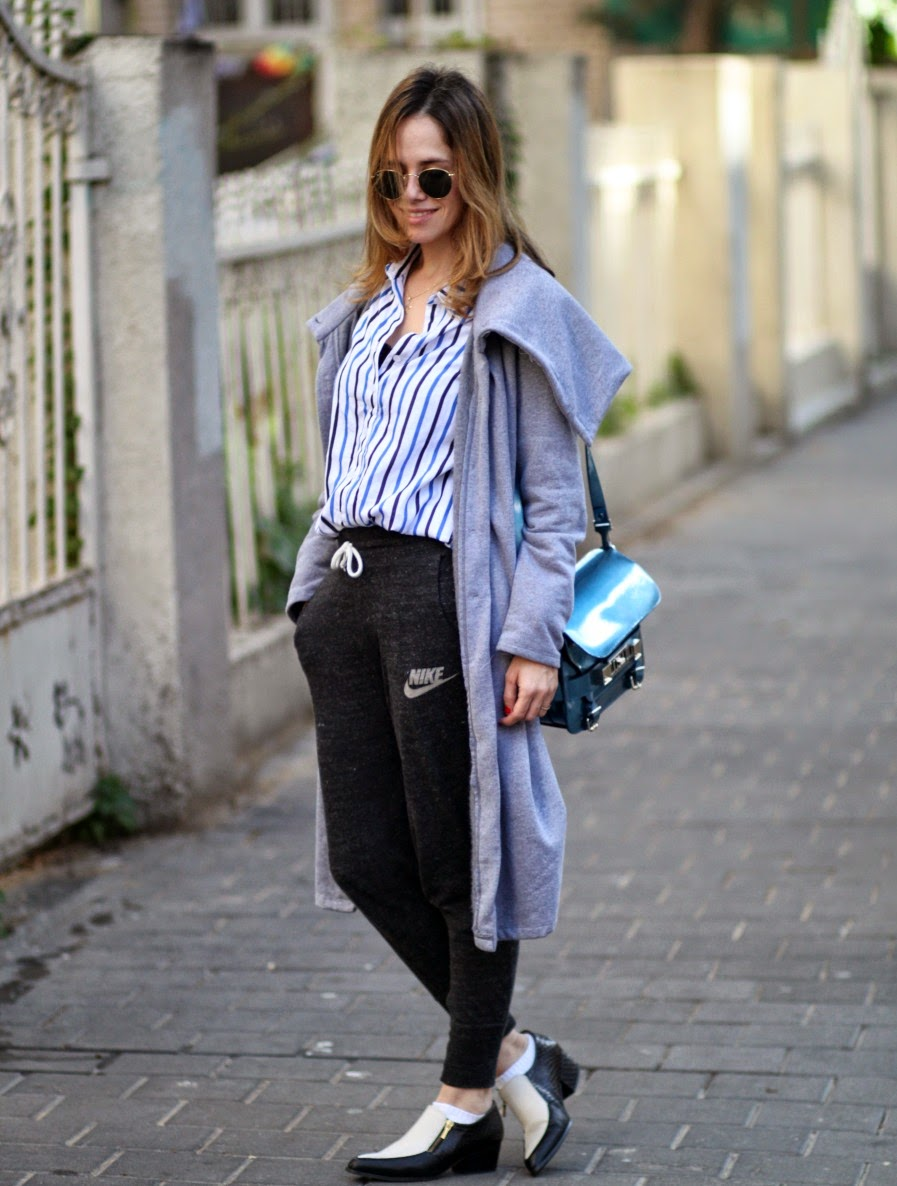 fw15, winterlook, cozy, ps11, buttondownshirt, ootd, streetsyle, greycoat, fashionblog, blog, אופנה, בלוגאופנה, חורף2015