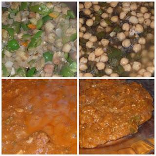 carne en salsa de verduras y garbanzos