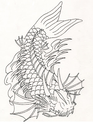 Koi Fish Tattoo Designs Sketch Collection 7