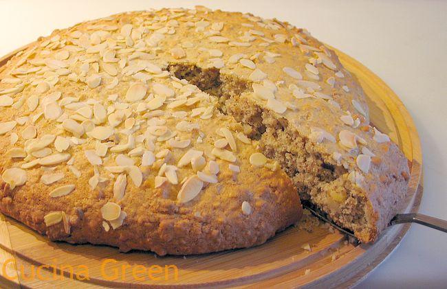 torta mandorle noci morbida e semplice