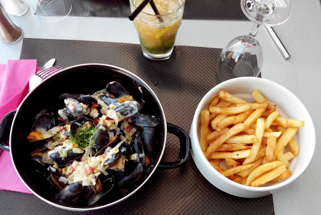 moules frites, restaurant, sainte marie sur mer, bullelodie