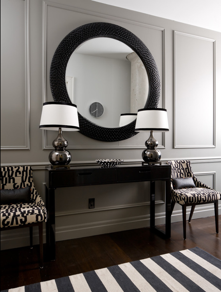 decor foyer Gray : In Search of the Perfect Round Mirror Driven by Decor