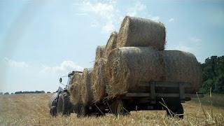tractor wagon hay