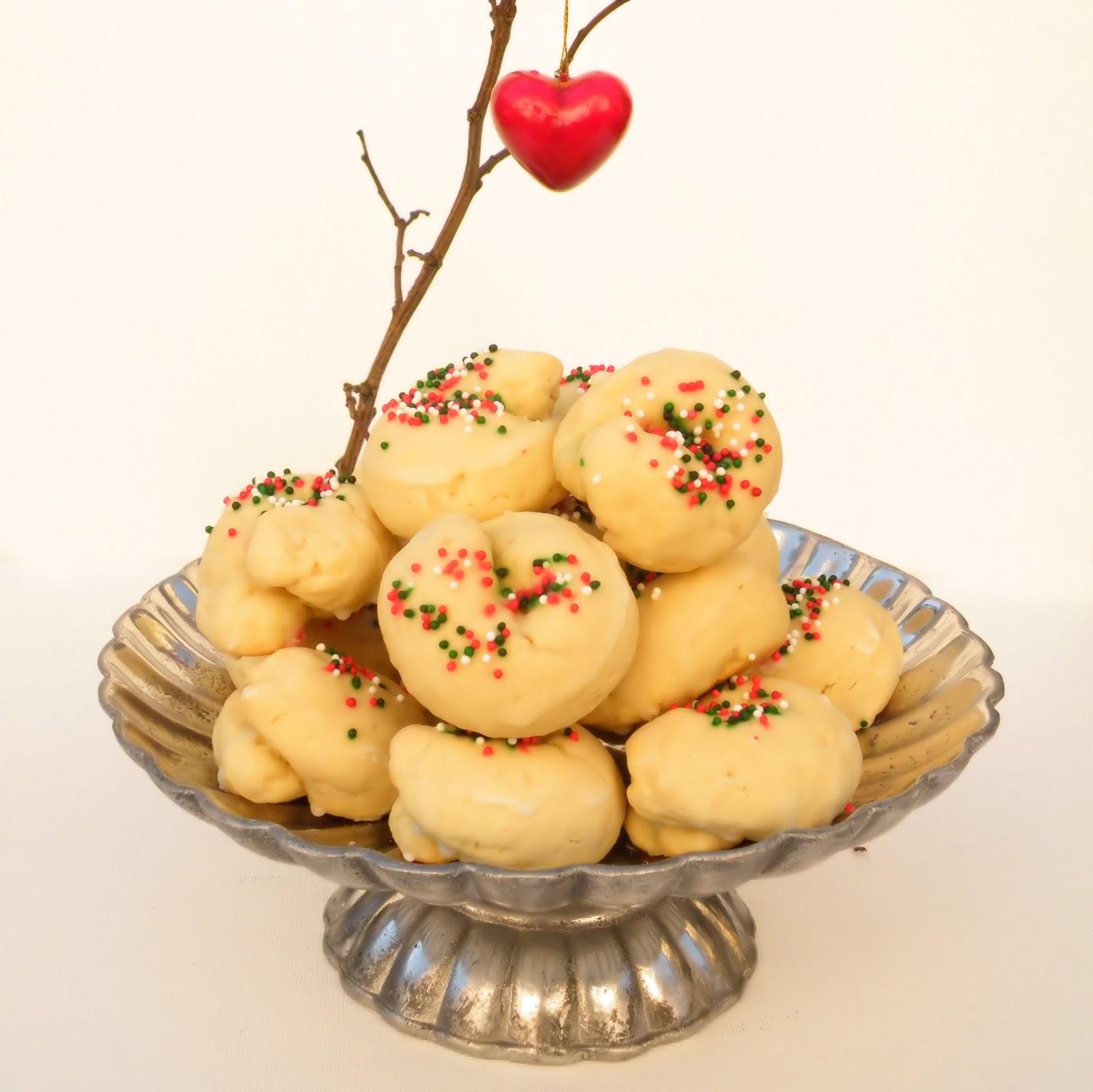 italian knot cookies - Italian Christmas Cookies Anise