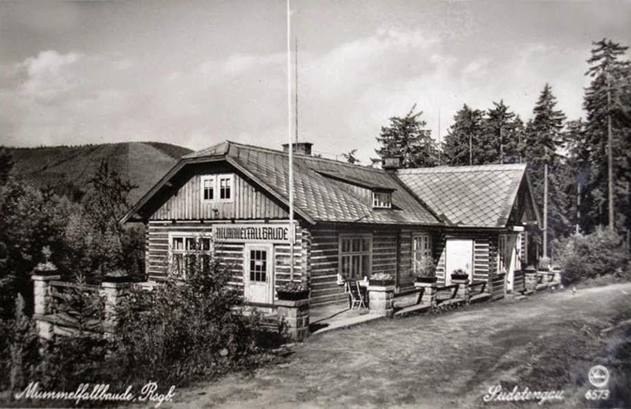 Mumlavská bouda na staré pohlednici