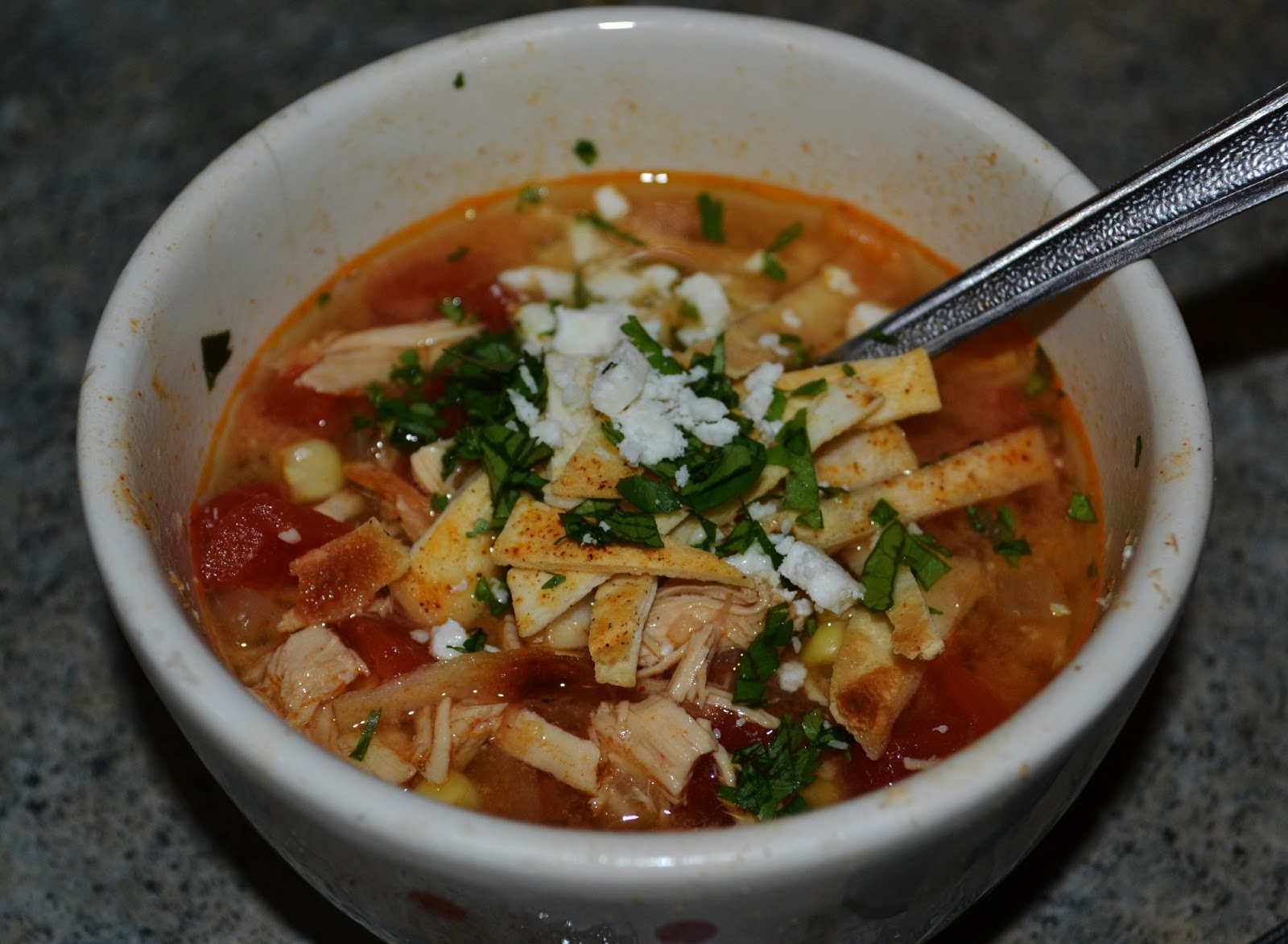Cooking Baker: Slow Cooker Chicken Tortilla Soup