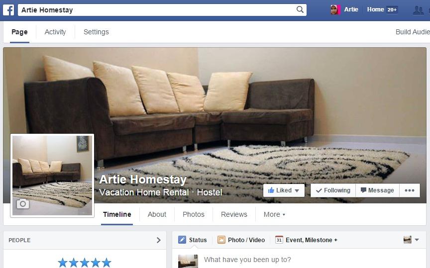 """Ada Facebook Tak? Jom """"Like"""" Fanpage Artie Homestay"""