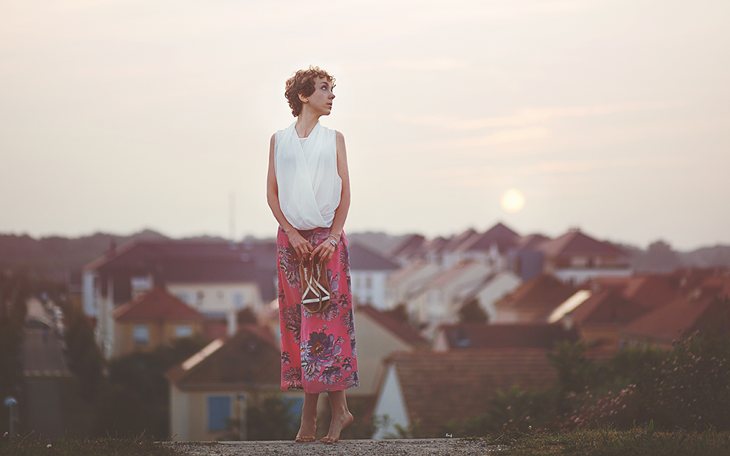 photography of das sheep during sunset, outfit of the day in culotte pants and kimono