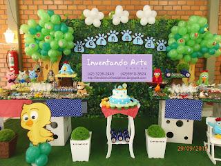 festa decoração galinha pintadinha