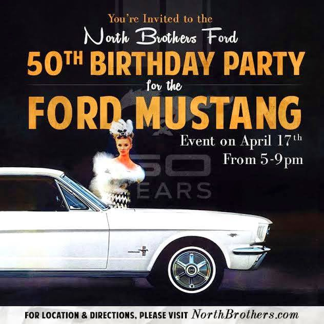 North Brothers Ford 50th Birthday Party for Ford Mustang!