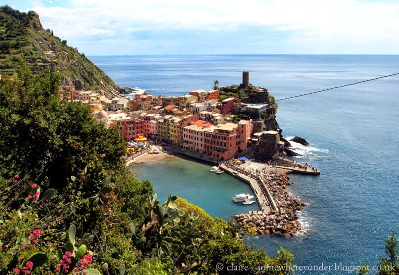 Our first glimpse of Vernazza