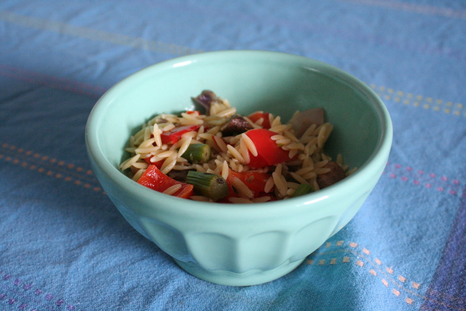 bluestocking: Orzo with Roasted Vegetables