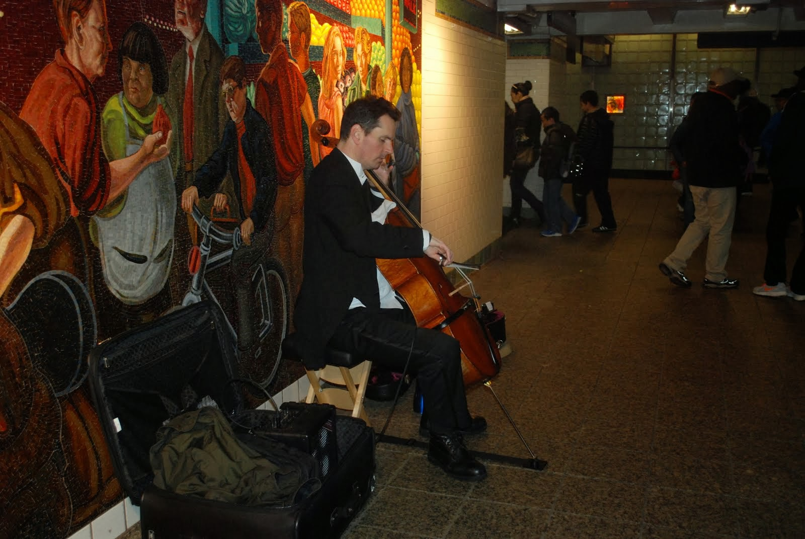 Cellist in NYC Subway