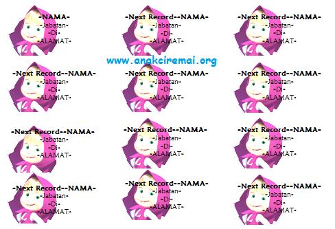 Label Undangan Unik Background Gambar Marsha