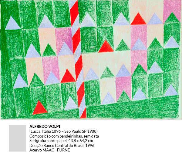 Alfredo Volpi - Composição com bandeirinhas