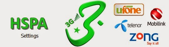 3G Pakistan Settings