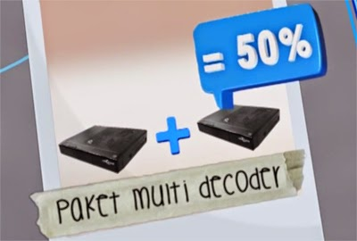 Indovision Multi Decoder Diskon 50 % Untuk Decoder ke-2