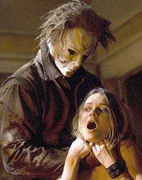 Halloween Resurrection stars Tyra Banks and Busta Rhymes as two TV show creators who get a bunch of teenagers to spend the night in the Myers household for