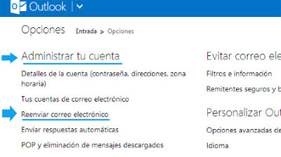 reenviar correo electronico outlook