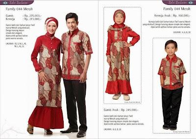 Koleksi keluarga batik motif 44 family merah