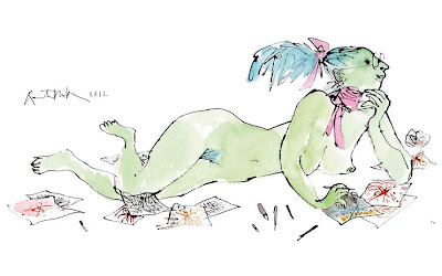 D&AD cover by Quentin Blake
