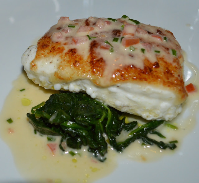 Parmesan Crusted West Coast Halibut at the Mediterraneo Restaurant