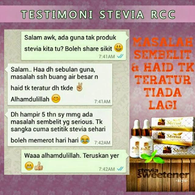 RCC Stevia Sweetner, gula semulajadi, sila sihat, dramaticuniq