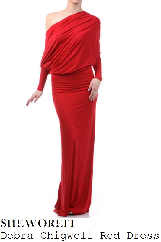 Sheworeit Jessica Wright S Debra Chigwell Red Long Sleeve