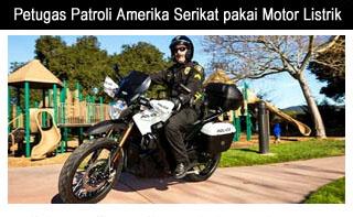 petugas patroli amerika serikat motor listrik