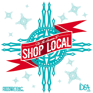 Tis the Season to Shop Local in Albuquerque - graphic by The Idea State LLC