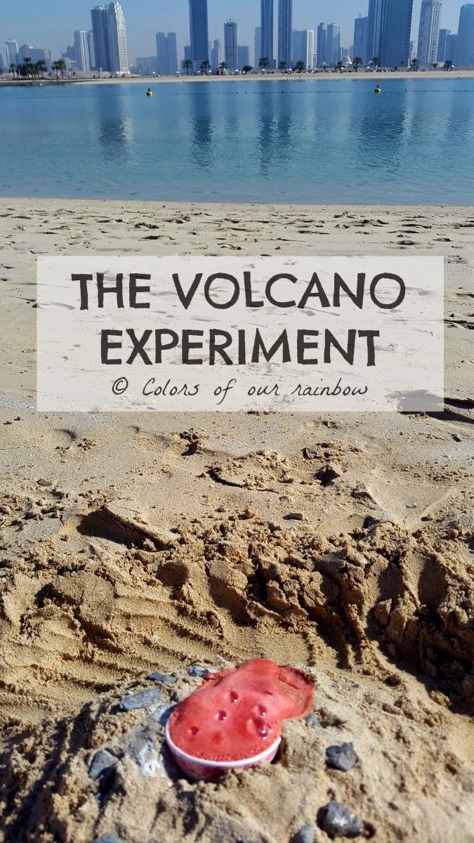 volcano experiment @colorsofourrainbow.com