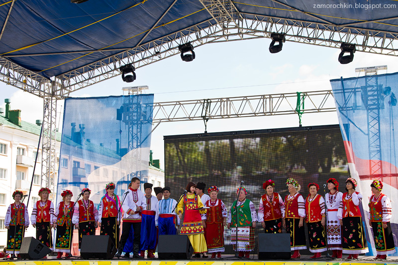 Украинский хор. Фестиваль национальных культур. День города в Саранске