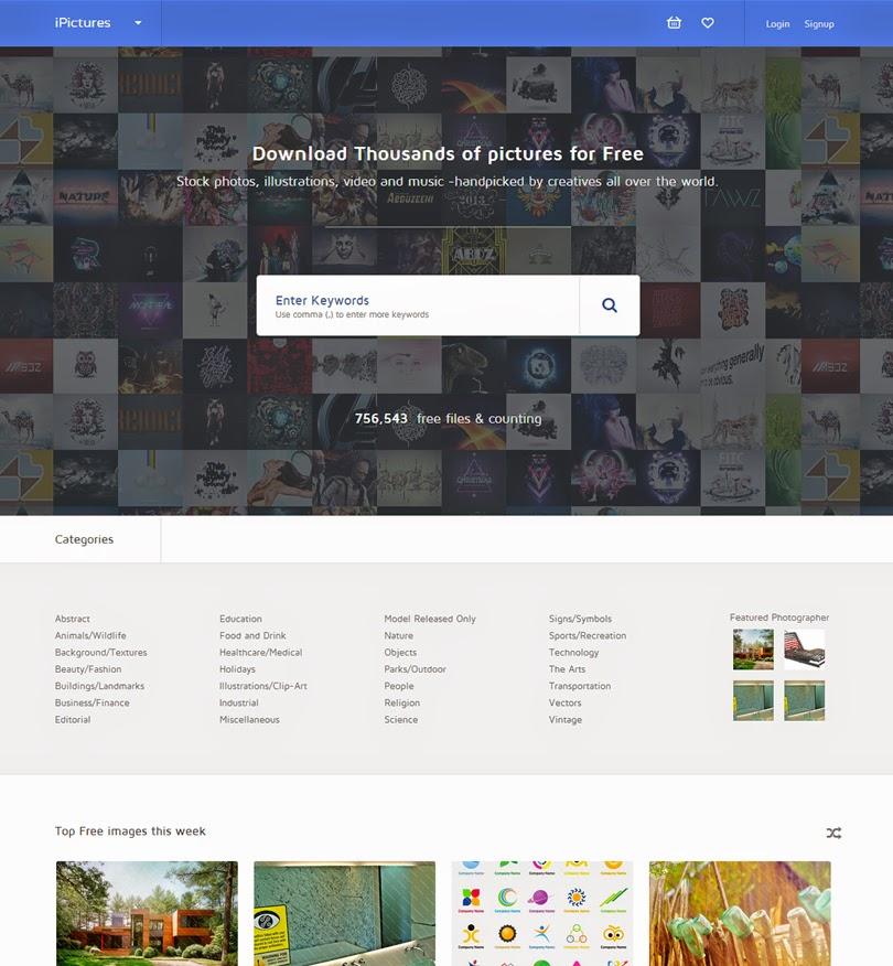 iPictures – WordPress Responsive Stock Image Website