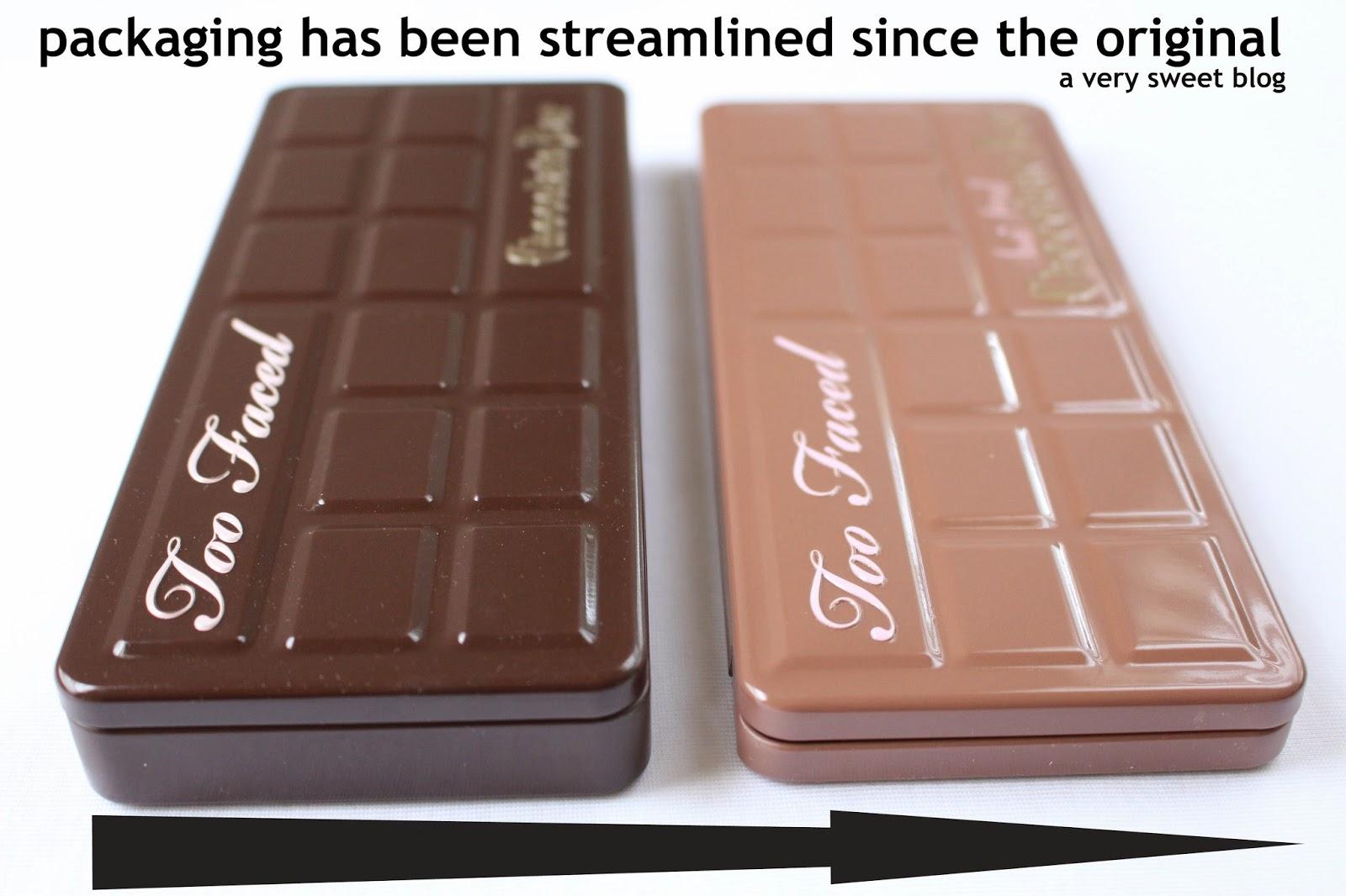 Original Too Faced Chocolate Bar Packaging
