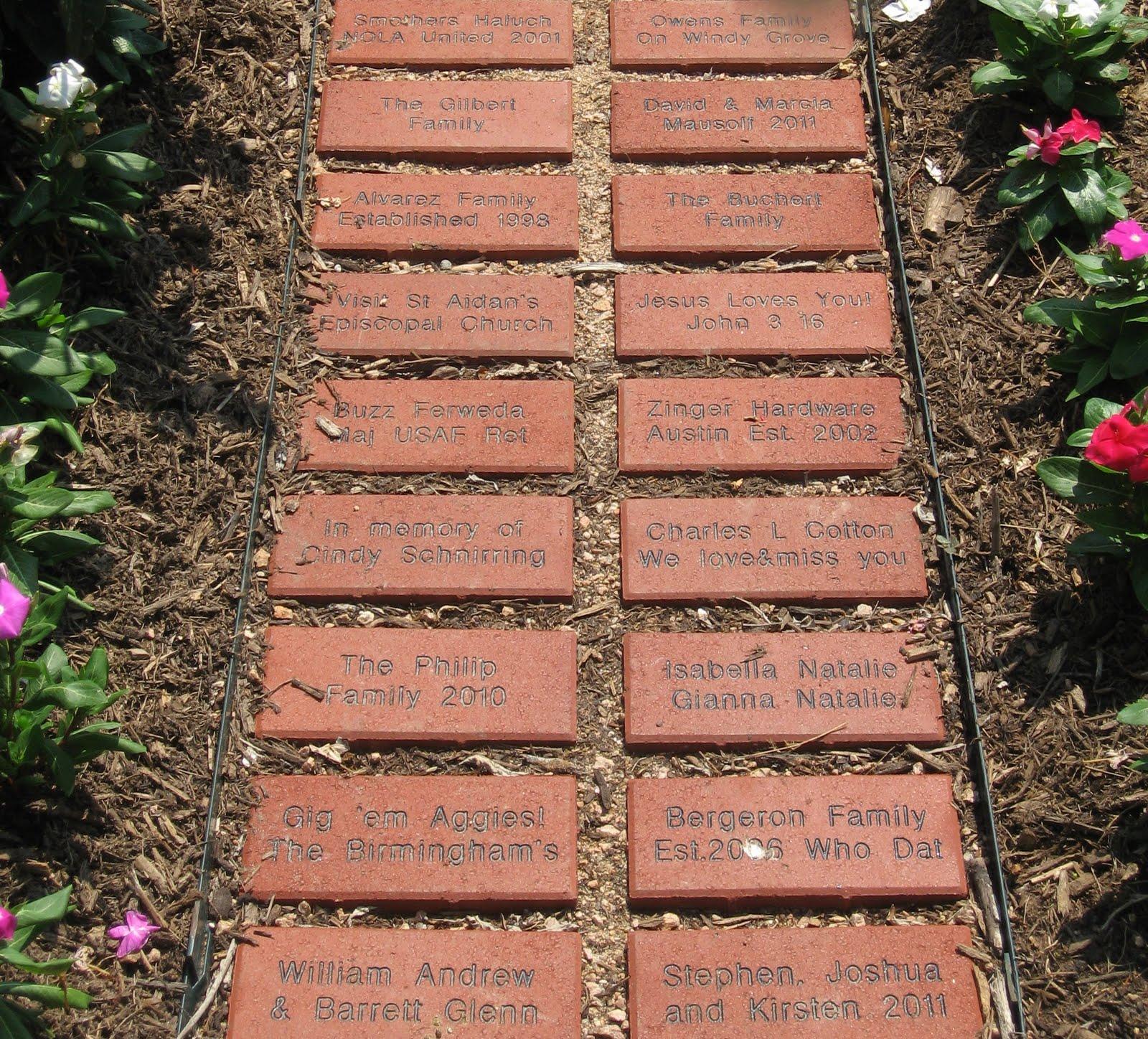 CYPRESS CREEK LAKES GARDEN CLUB: Pathway Bricks!!!