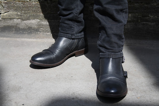 ASOS Buckle Boots in Leather