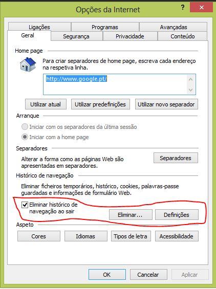 acelerar o Internet Explorer