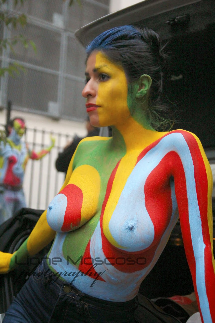 New York City body Art  Painting- live medel