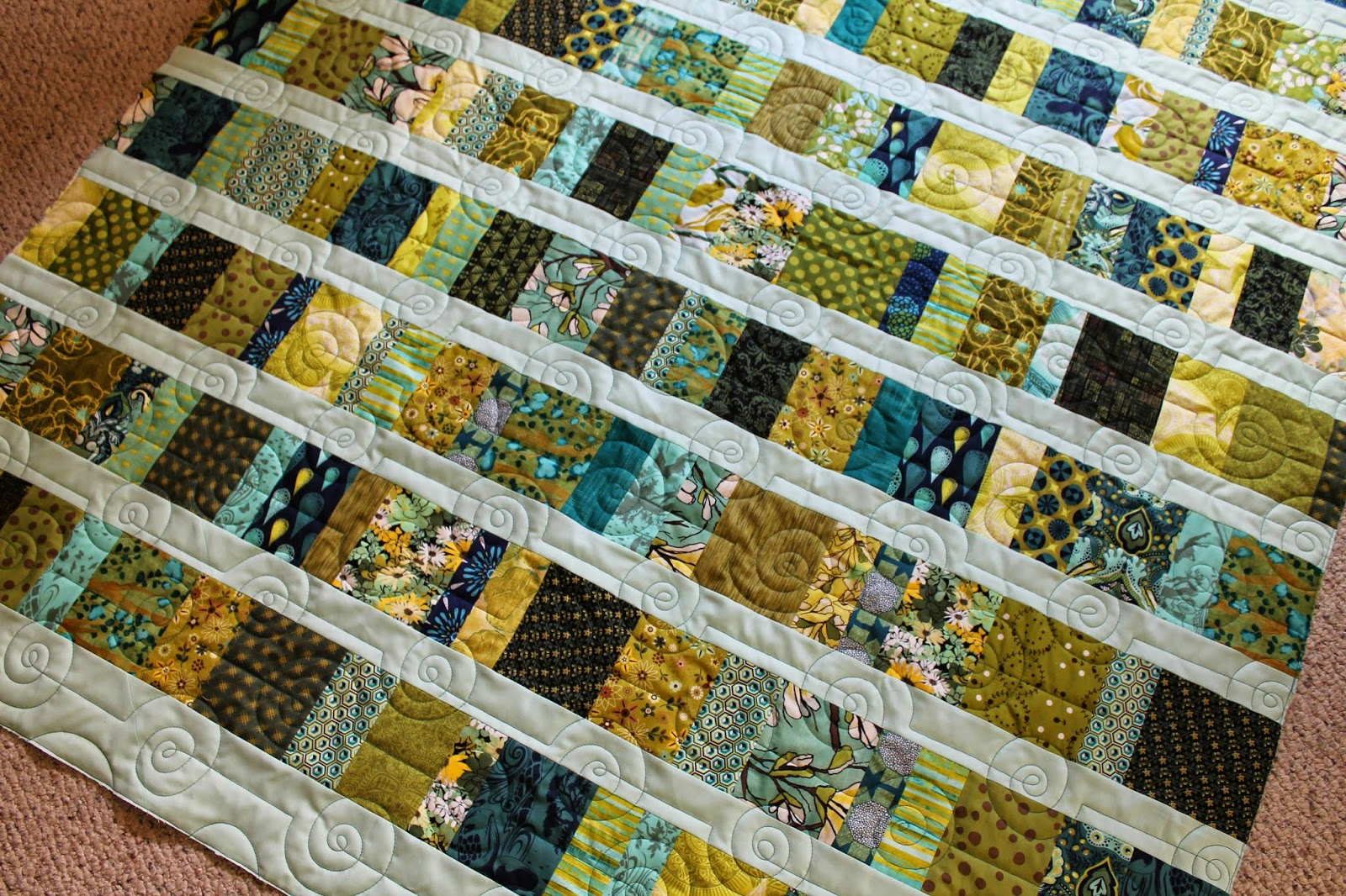 Quilting is more fun than housework horizontal scrappy for Scrap quilt