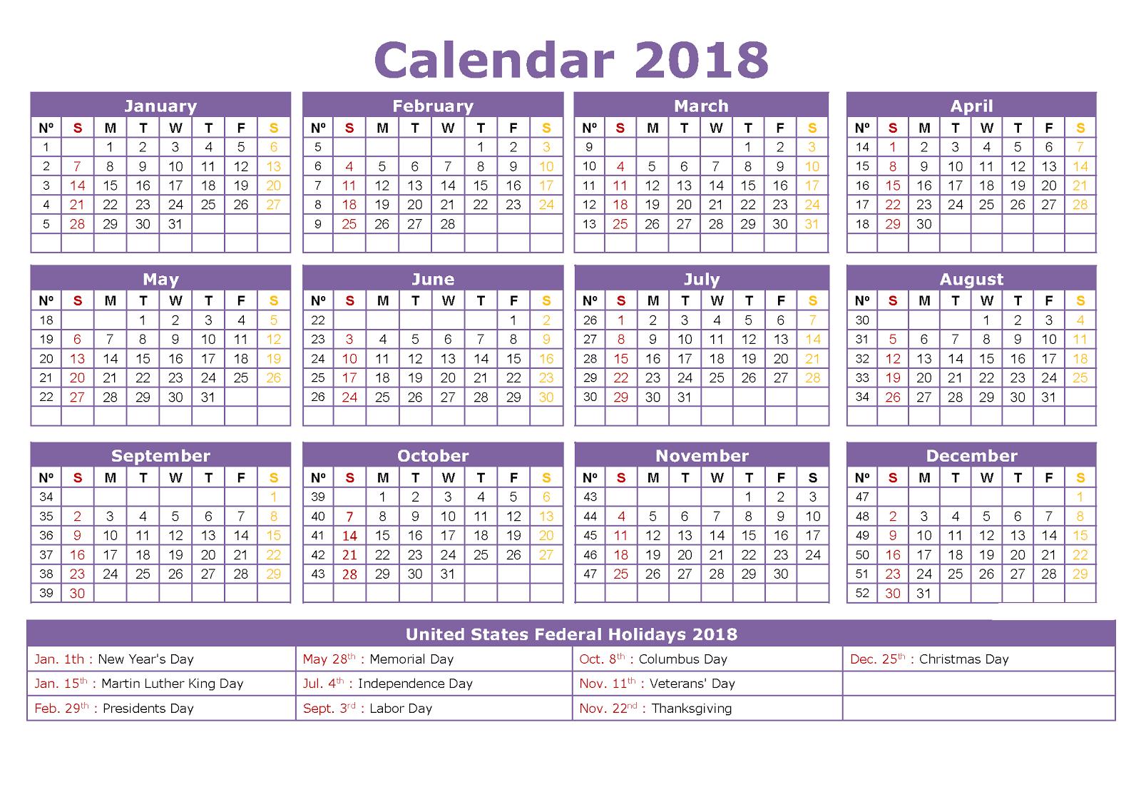 Calendar Q : Printable calendar federal holidays